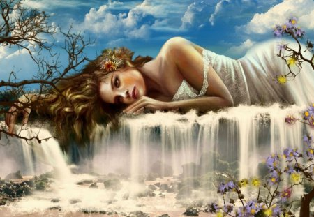 mother nature - female, goddess, lady, scene, landscape
