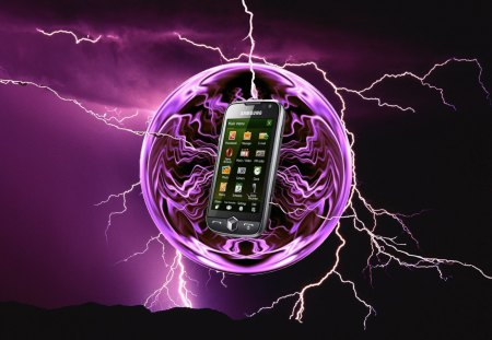 Omnia 2 - samsung, phone, electricty, storm, verizon, omnia, ball