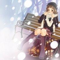 girl in bench