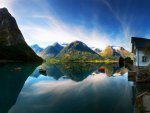 Beautiful Norway lake