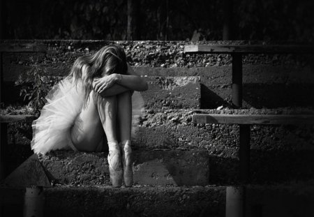 My Soul Craves Your Touch - miss, ballerina, black and white, dream, woman, soul, alone, sad, love