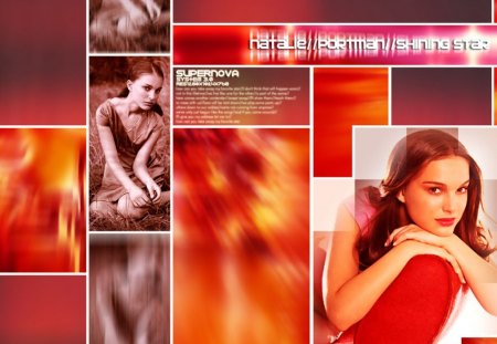 COLLAGE OF NATALIE PORTMAN - an, portland, abstract, collage, natalie