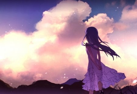 beautiful day - zakat, anime, devocka, the cloud, anohana, menma
