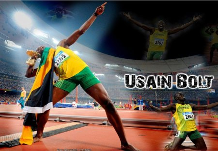 Usain Bolt - usain bolt, the man, an athlete, runner, world champion, a sprinter, olympic champion