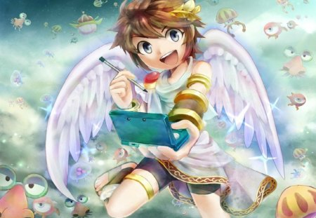 3DS UPRISING!!! - 3ds, kid icarus uprising, aqua blue, kid icarus
