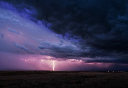 Lightning Strike - beauty, nature, lightning, storms