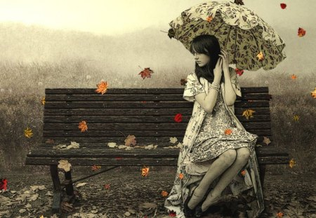 Autumn time - fantasy, photography, animation, people, entertainment, beautiful, other