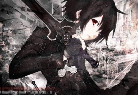 Bleak Swordsman - kazuto, cool, dark, nice, sword art