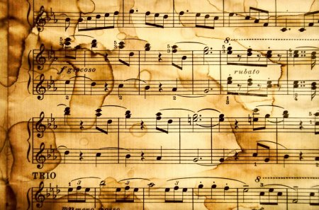 Music notes - notes, paper, classical, music