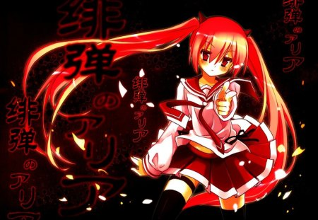 Kanzaki H Aria.... :) - cute, red, cool, girl, anime, dark, kanzaki h aria, hidan no aria
