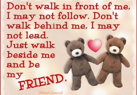♥ Friendship Poem ♥ - teddy bears, bears, friendship, abstract, collage, heart, poem, teddies, love