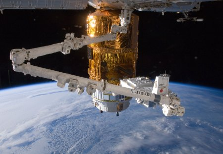 Canadarm2 and HTV - htv, iss, space, canadarm2