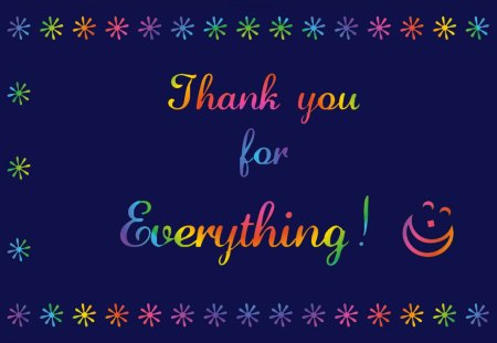 Thank You For Everything Graffiti Abstract Background