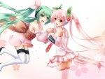 Hatsune Miku & Sakura Miku