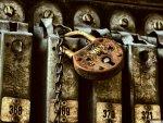 rusty lock on a locker