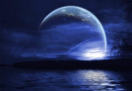 Blue Moon 3d And Cg Abstract Background Wallpapers On Desktop Nexus Image 1158129