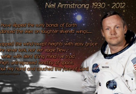 Neil Armstrong Tribute - moonwalk, armstrong, moon, space, nasa, first man on moon