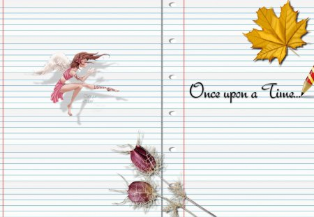 Once upon a time - autumn, paper, tale, fairy, elf, story