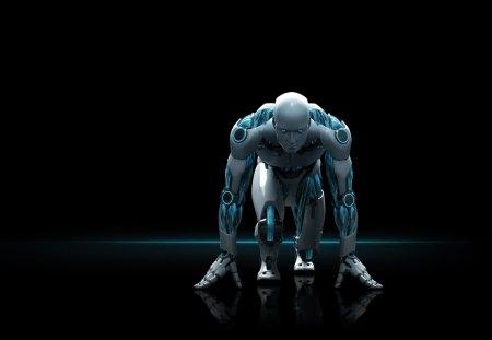 Robot (nod32) - nod32, robot, hologram, 3d