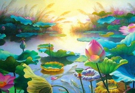 The garden - flowers, beautiful, color, colors, splendor, garden, sun
