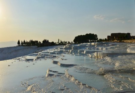 Cotton castle of Turkey - pamukkale, castle, cotton, travertian