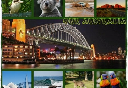 ~~~My Australia For DN Friends~~~ - abstract, animals, collage, scenes