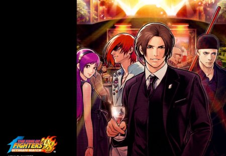 king of fighter - party, kof, anime, kyo