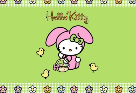 Easter Bunny - easter, hello kitty