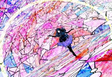Colour Blind - live, splash of color, anime, life
