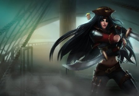 League Of Legends - Bilgewater Katarina - katarina, bilgewater skin, game, lol, skin, league of legends