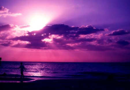 Remarkable Purple Beach Sunsets Nature Background Wallpapers On Download Free Architecture Designs Scobabritishbridgeorg