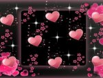 Pink Hearts of Love