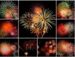 COLLAGE OF FIREWORKS