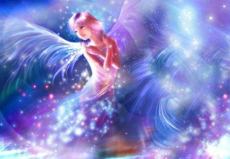 Angel - digital, beautiful, abstract, art
