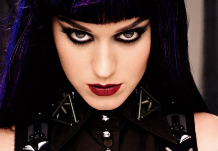 Katy Perry - pretty, music, beautiful, singer, lips, goth, hair, dark, hot, face, katie, perry, katy, eyes