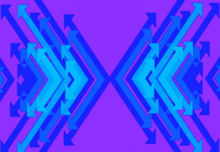 Double Arrow Blue and Purple - colorful, cool, background, blue, neat, stuff, contrast, abstract, other, high, arrows, arrow, pink, quality, nice, purple, wallpaper, cyan