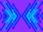 Double Arrow Blue and Purple