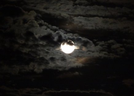 Cloudy Night - moon, blue moon, neil armstrong, clouds, sky