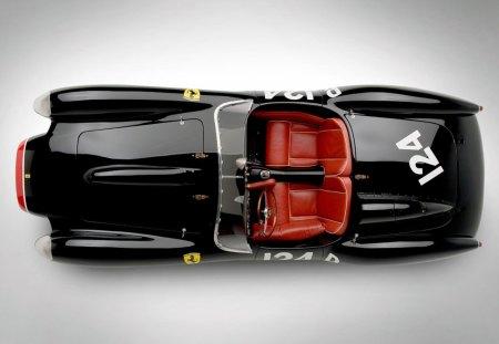 1957 Ferrari 250 TR - sports, car, old, red, 57, ferrari, classic, vintage, 1957, race, antique, black