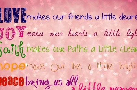 Words To Ponder - pink, nice, words, best