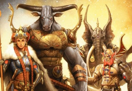 legendary warriors fantasy abstract background wallpapers on