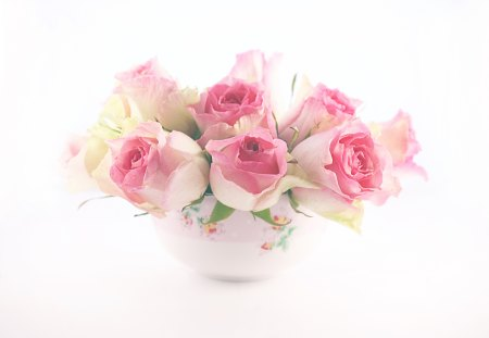 Roses Pastel ~Charismatic~ - lovely, cup, friend, pink, charismatic, roses, pastel