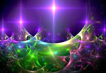 FRACTAL STARS - stars, art, fractal, shine