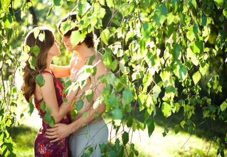 Couple in LOVE - forest, green, fresh, love, summer, nature, spring, couple