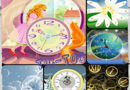 ~~~TIC-TOC  TIME~~~ - time, abstract, collages, clocks