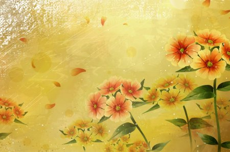 Warm colors - autumn, colorful, flowers, hd, textures, colors, abstract, wallpaper, dream
