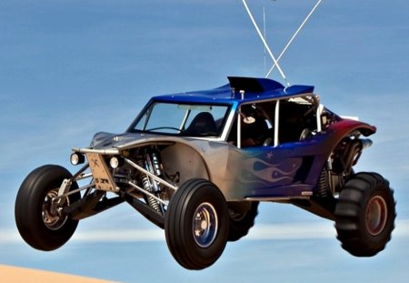 Dune Buggy - buggy, jumping, dune, desert