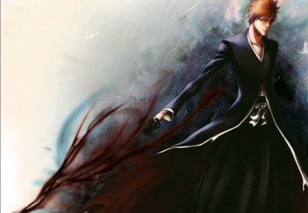 Bleach - boy, anime, sword, bleach