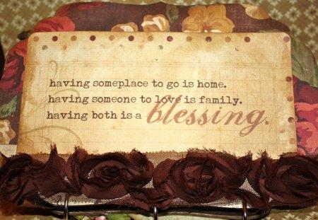 ღ Blessing ღ - quote, blessing, home, family, words, love