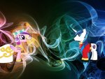 Princess Cadance and Shining Armor Neon